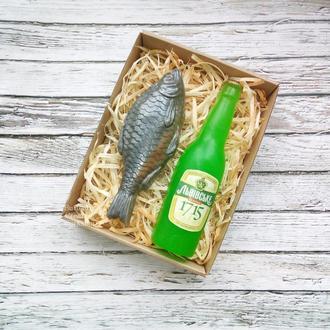 """Набор мыла """"Рыба с пивом"""""""