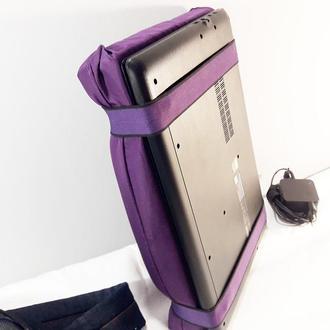 Защитная накладка на экран ноутбука. Альтернатива сумки для ноутбука. Фиолетовая.