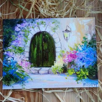 Картина полотно, олія, мініатюра Прованс