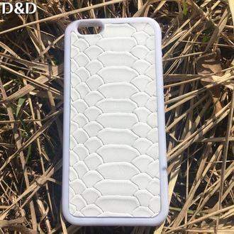 Белый Чехол из натуральной кожи для Iphone