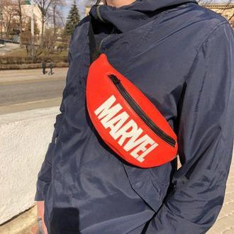 "Бананка, сумка на пояс ""MARVEL"""