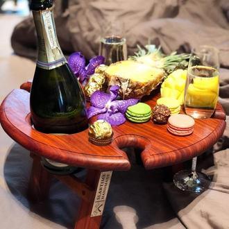Винный столик  из африканского падука