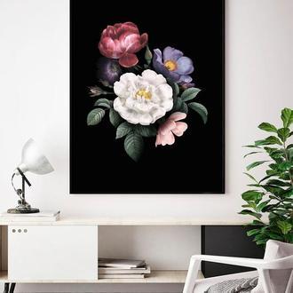 Графический постер Цветы