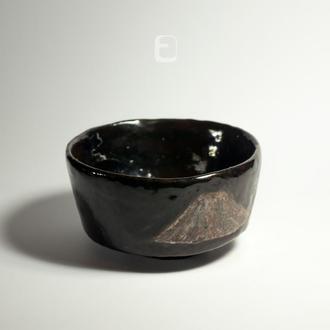 """Work no. 263W — chawan (ПИАЛА, чаша, тяван, чаван) """"Fuji 5"""", tea bowl in japanese style"""