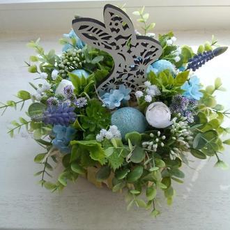 Пасхальная композиция, пасхальный пасхальный весенний декор