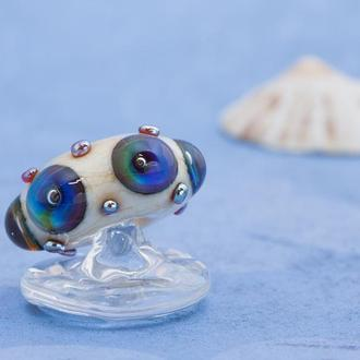 """Бусина для браслета pandora с синими """"океанами"""""""