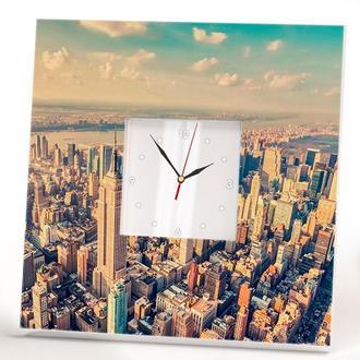 "Настенные часы ""Нью-Йорк. Манхэттен. Небоскребы"""