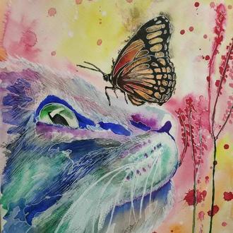 Кошечка и бабочка