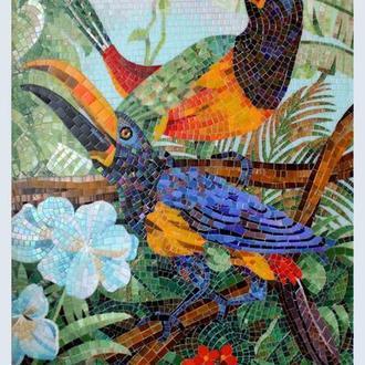 """Мозаика - картина из серии птицы """"Туканы"""""""