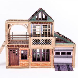 Деревянный магнитный конструктор Woodyco Большая Семья (396 деталей) с печатью. WOODYCO Big Family