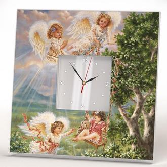 "Настенные арт часы ""Ангелочки"""