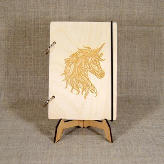 Блокнот формата А5. Блокнот в подарок. Деревянный блокнот. Подарок девушке