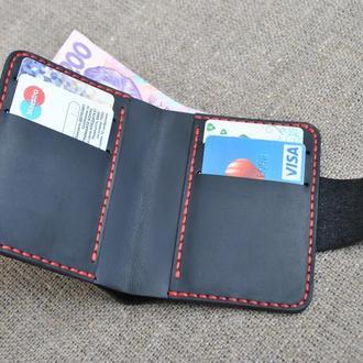 Небольшой вертикальный кошелек K35-0+red