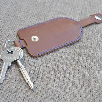 Ключница из кожи Kl01-210+blue