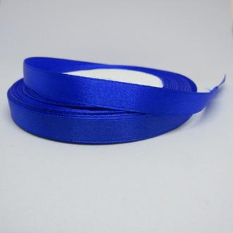 Лента атласная синяя  для украшений 10 мм