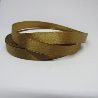 Лента атласная оливково-коричневая для украшений 10 мм