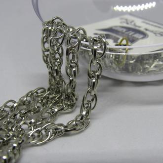 Цепочка металлическая бижутерия серебро 1 метр