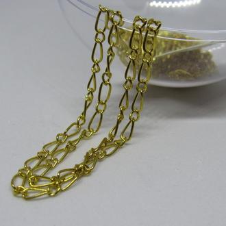 Цепочка металлическая бижутерия золото 1 метр
