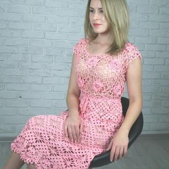 """Кружевное платье """"Нежная роза"""""""