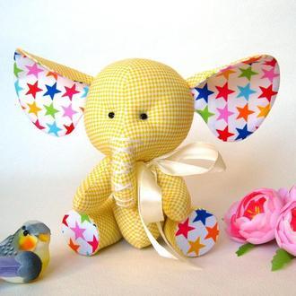 Слоненок Солнышко, подарок ребенку.