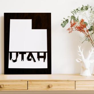 """Декоративная деревянная доска на стену """"UTAH"""""""