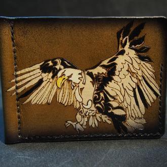 Зажим для купюр, кошелек с зажимом, кошелек орёл, орёл на кошельке