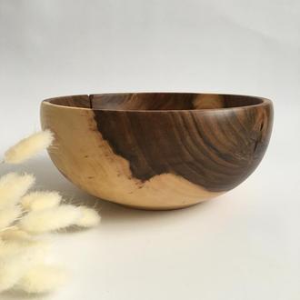 Фруктовниця, декоративна ваза з дерева