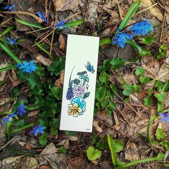 """Книжкова закладка """"Квіти"""""""