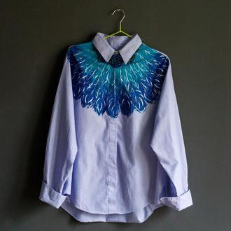 блузка с художественной росписью