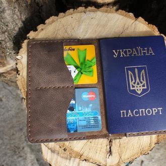 Чехол для паспорта из натуральной кожи