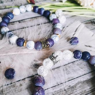 Волшебный женский браслет из натуральных камней