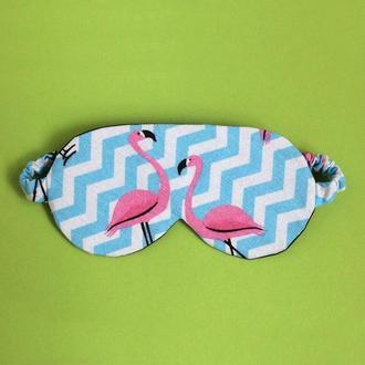 Маска для сна - фламинго, маска для сну - фламінго, маска для сна Киев, подарок девушке