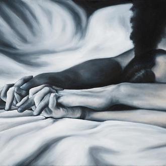 """Принт """"Холодним ранком, руки без слів"""""""