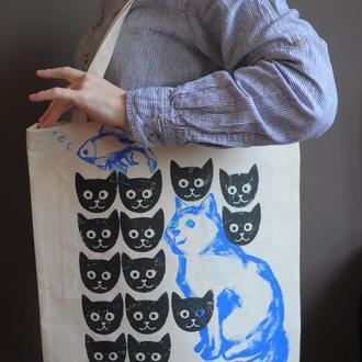"""торба """"Кіт та рибка"""""""