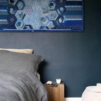 Декор на стену из ткани панно лоскутное, печворк, вышивка