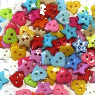 Пуговицы пластиковые, 10-12 мм, 88 штук, микс