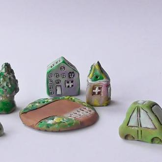 Домики Миниатюра для коллекционера Подарок набор №9
