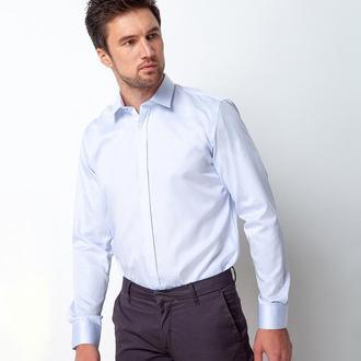 Рубашка приталенная голубая 310-004