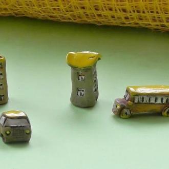 Керамическая миниатюра набор №1