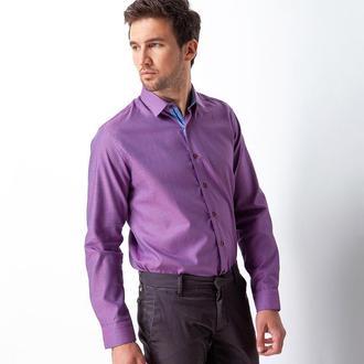 Рубашка приталенная темно-фиолетовая 410-003