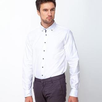 Рубашка приталенная фактурная 500-007