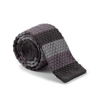 Краватка в'язаний в сіру смужку 900-005