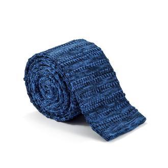 Краватка в'язаний синій 900-006