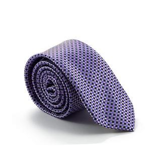 Галстук  тёмно-фиолетовый с шахматным узором 900-008