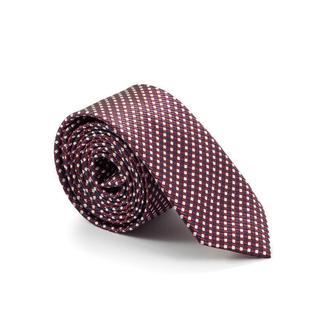 Краватка бордовий із шаховим візерунком 900-009