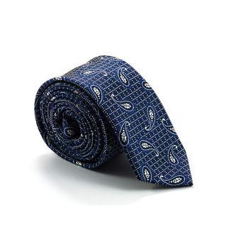 Галстук тёмно-синий с элегантным узором 900-011