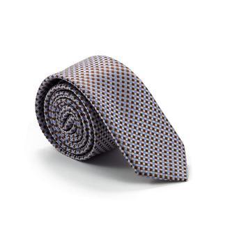 Краватка білий із шаховим візерунком 900-013