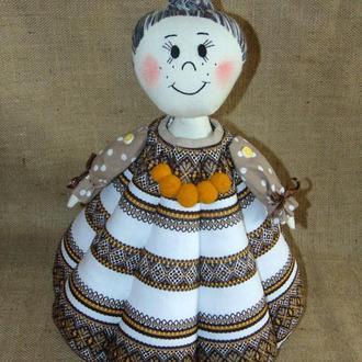 Народна баба-грілка для чайника в етностилі, авторська