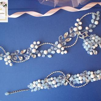 Свадебное украшение для волос,украшение на свадьбу,прикраси на весілля,свадебное украшение для волос