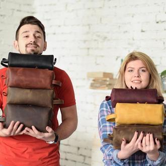 Несессер для путешествий, аксессуар с персонализацией, персональный подарок, кожаный органайзер